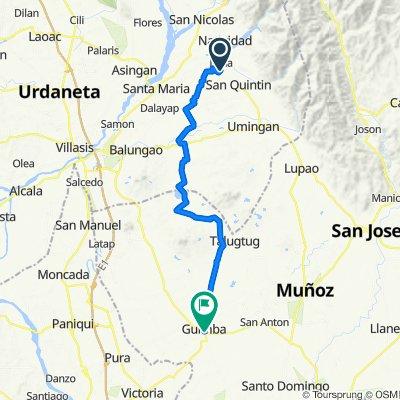 Unnamed Road, Natividad to Pangasinan - Nueva Ecija Road 15, Guimba