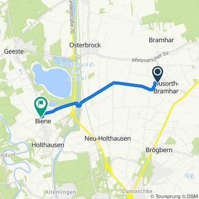 Kapellenweg 2, Lingen (Ems) nach Raiffeisenstraße 5, Lingen (Ems)