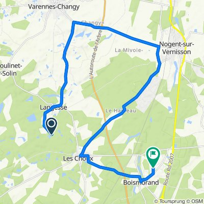 Itinéraire vers 19 Allée de la Grande Jument, Boismorand