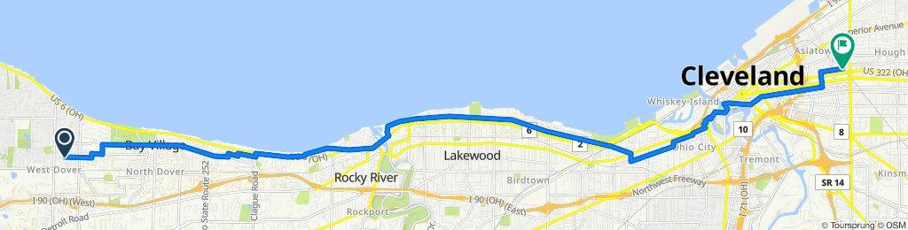30322 Ashton Ln, Bay Village to 5000 Perkins Ave, Cleveland