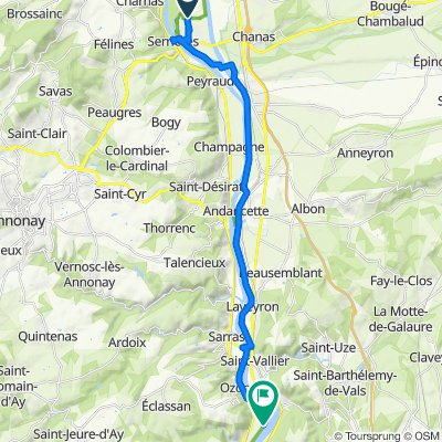 Moderate route in Arras-sur-Rhône