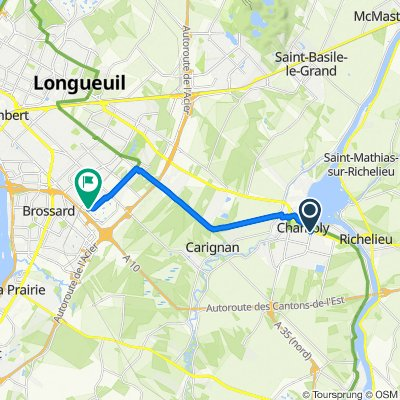 1254–1298 Boul Fréchette, Chambly to 5000 Av Colomb, Brossard