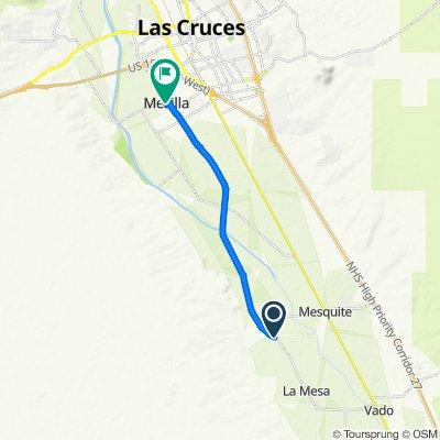 NM-28, La Mesa to 2456 Calle de Guadalupe, Mesilla