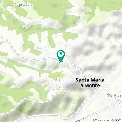 Da Via Don Oreste Nuti 42, Santa Maria A Monte a Via di Bientina 39, Santa Maria A Monte
