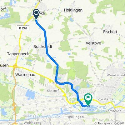 Sogeimsring 3–5, Jembke nach Allerpark 12, Wolfsburg