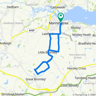 Manningtree loop via Little Bromley on new bike