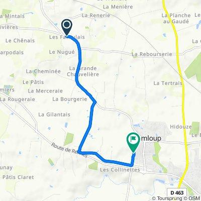 De 76 Route de Cesson-Cévigné, Domloup à 40 Allée des Mimosas, Domloup