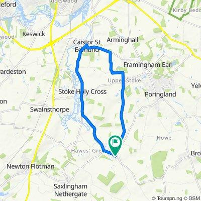 Sporty route in Norwich
