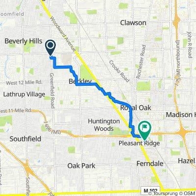 Restful route in Pleasant Ridge