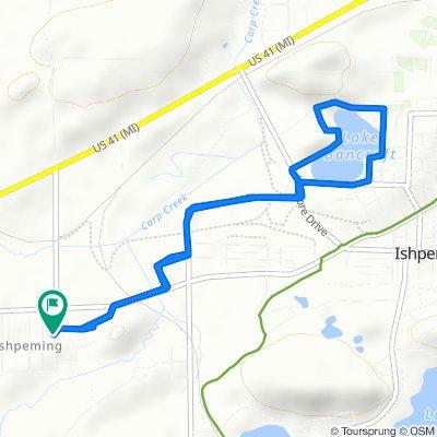 Restful route in Ishpeming