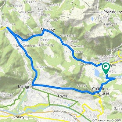 Taninges - Saint-Jeoire - Marignier - Châtillon sur Cluses - Taninges