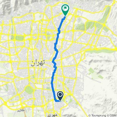 قدس, Shahr-e Rey to Ekhtiarieh Square, Tehran