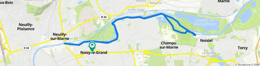 De 17 Rue Lucien Sampaix, Noisy-le-Grand à 16 Rue Lucien Sampaix, Noisy-le-Grand