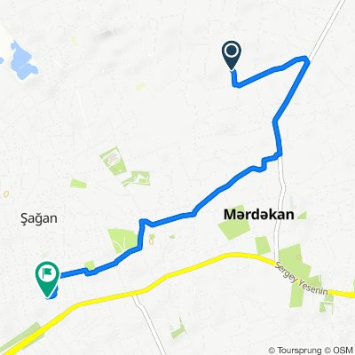 Route to Nüsrət Məmmədov, Mardakyan