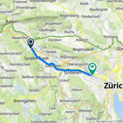Ankegässli 3, Killwangen nach Vulkanplatz 41, Zürich
