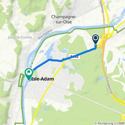 Easy ride in L'Isle-Adam