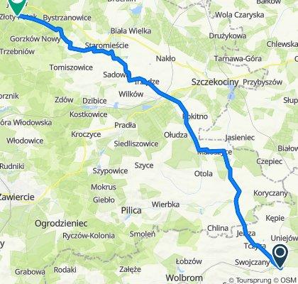 Żarnowiecka 49, Miechów-Charsznica do Świętego Józefa 1, Złoty Potok