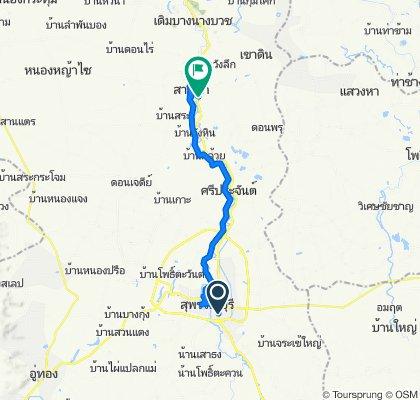 Thailand, ตำบล ท่าระหัด to Unnamed Road, Tambon Sam Chuk