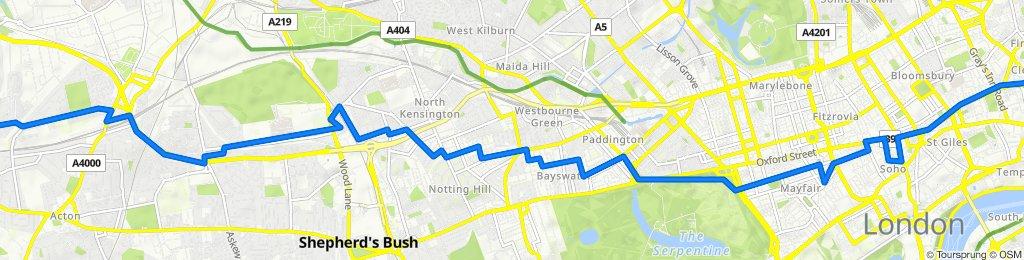 10 Boileau Road, London to 157A Saint John Street, London