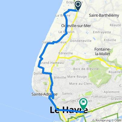 Etape 4 : Octeville - Le Havre ( done )