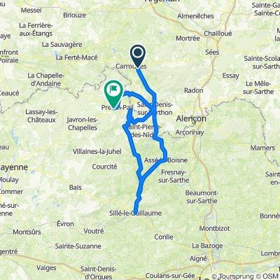 De 1 Route de la Forêt, Chahains à 8 Pré Goupil, Pré-en-Pail