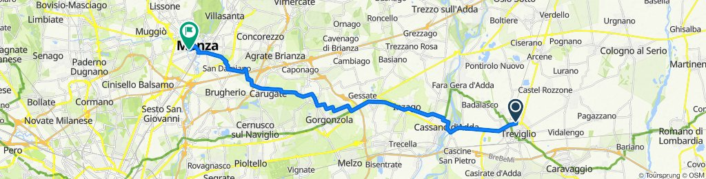 Da Via Pontirolo 9,Treviglio a Via Arnaldo da Brescia 6,Monza