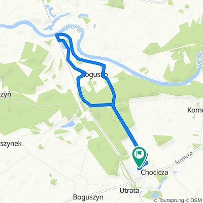 Moderate route in Chocicza