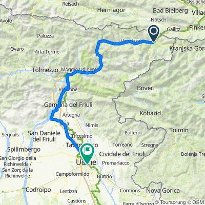 Ciclovia (3b): Tarvisio-Udine