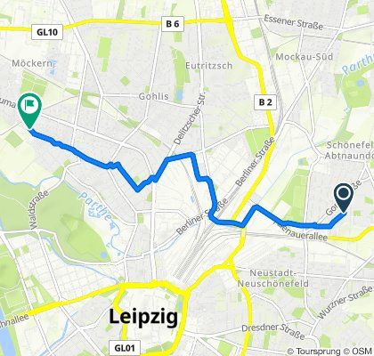 Restful route in Leipzig