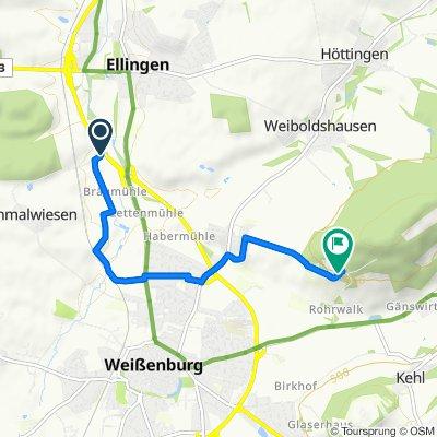Route nach Am Rohrberg 13, Weißenburg in Bayern