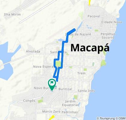Avenida Dezoito de Julho, 250–482, Macapá to Avenida Dezoito de Julho, 249–481, Macapá