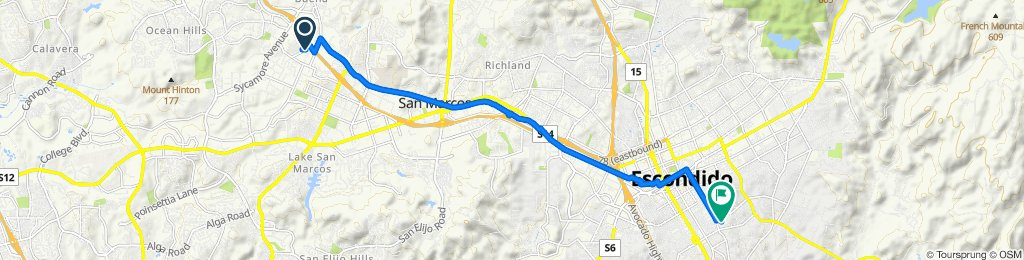530 Mimosa Ave, Vista to 1580 S Juniper St, Escondido