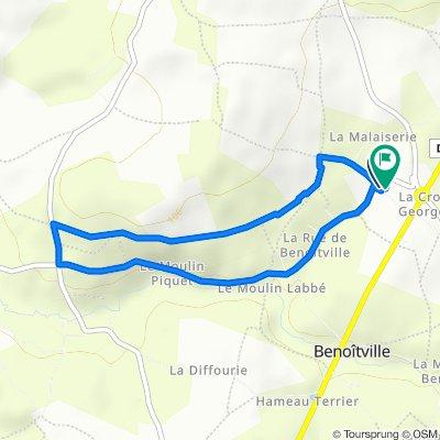 De 16 Route du Coquoin, Benoîtville à 8 Route de Tréauville, Benoîtville