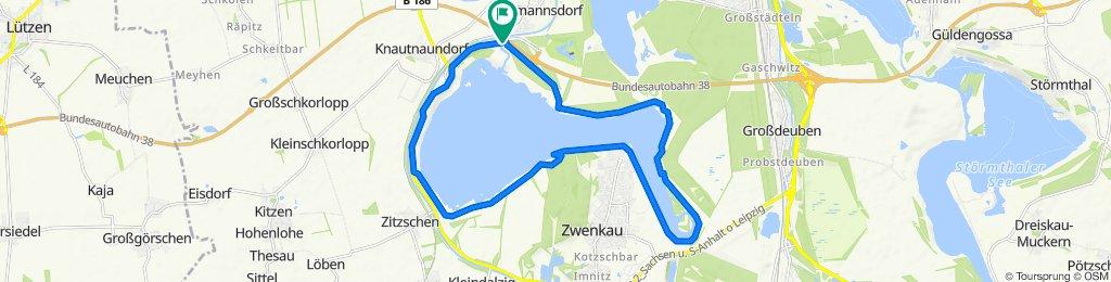 Zwenkauer See (Radweg-Runde)