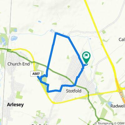 Steady ride in Etonbury green wheel
