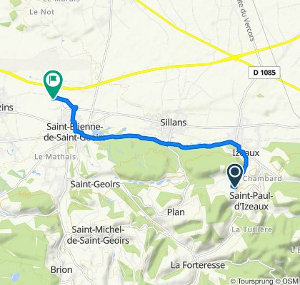 Relaxed route in Saint-Etienne-de-Saint-Geoirs