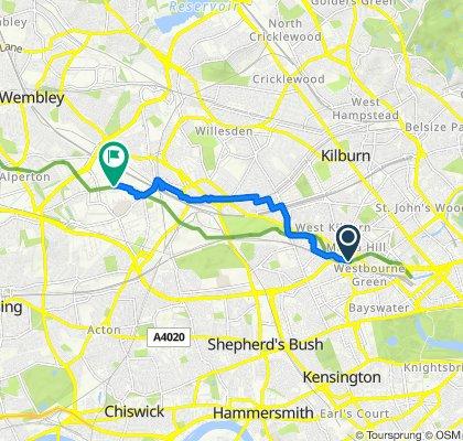 Fazeley Court, Elmfield Way, Londyn do 6 Willenfield Road, Londyn