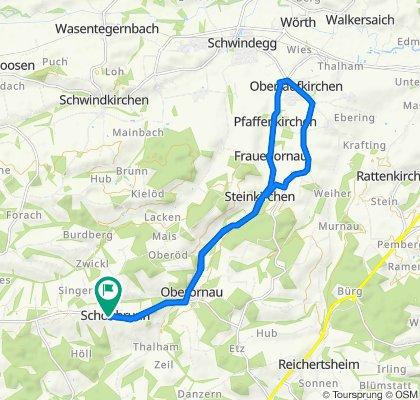 Route in Obertaufkirchen