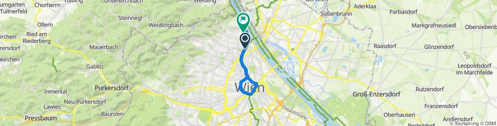 Radwegbrücke Krottenbach, Vienna to Zahnradbahnstraße 2-4/4, Vienna