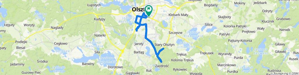 Restful route in Olsztyn