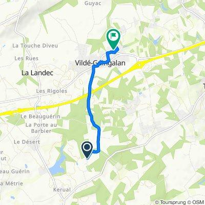 Moderate route in Vildé-Guingalan