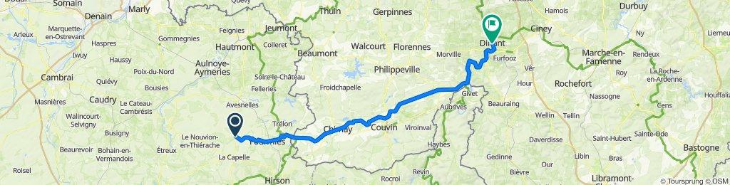 De Route nationale 67, Larouillies à Rue Grande 160, Dinant