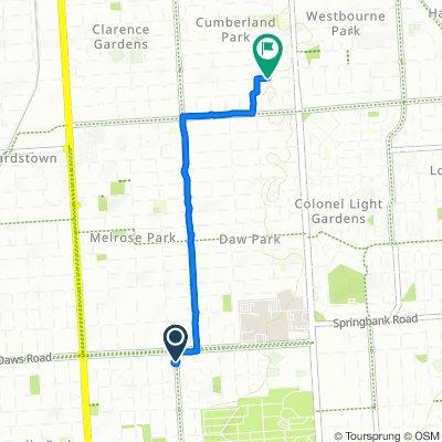191 Daws Road, Pasadena to 20 Narinna Avenue, Cumberland Park
