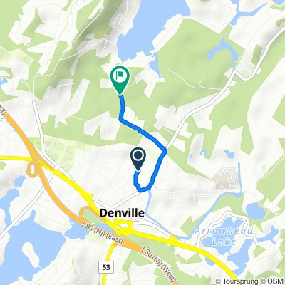 14 Riverside Dr, Denville to 30 Cedar Lake Rd, Denville