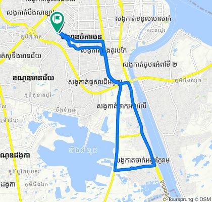 Street 402, Phnom Penh to Street 402, Phnom Penh