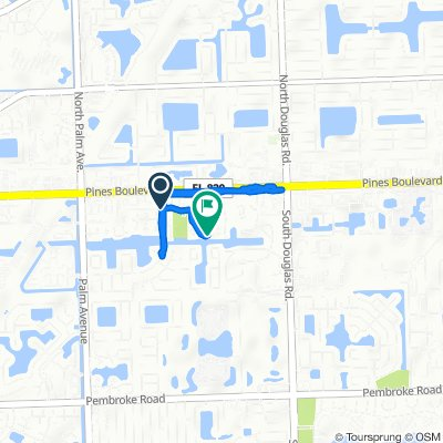 160 SW 96th Ave, Pembroke Pines to 9321 SW Sixth St, Pembroke Pines