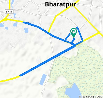 Route from Bharatpur