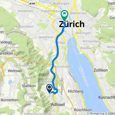 Da Zelgstrasse 4, Adliswil a Eisgasse 10–14, Zürich