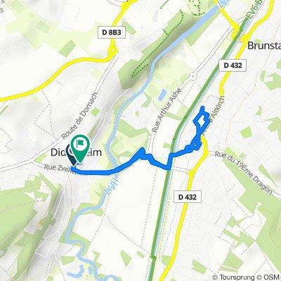 De 4 Rue de Mulhouse, Didenheim à 3–5 Chemin des Écoliers, Didenheim