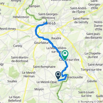 Itinéraire modéré en Troisgots